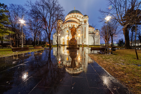Saint Sava temple, Belgrade Serbia Stock Photo