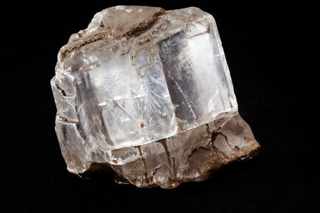 mineral halite on the black background