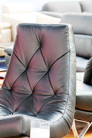 leather texture: Detail of classic furniture sofa in living room.
