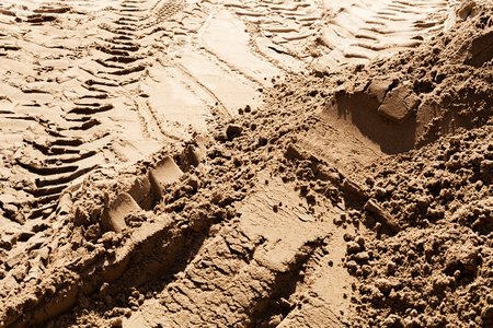 sand quarry: smaller sand in construction with gravel