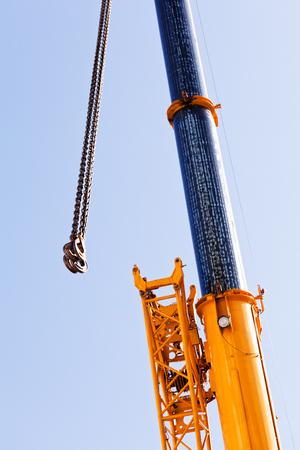 heavy industry: Crane hooks Stock Photo