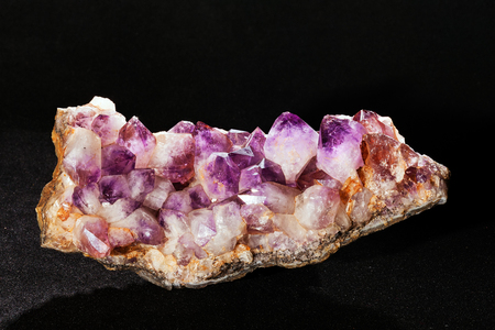 amethyst from the Mexico on the black background Imagens