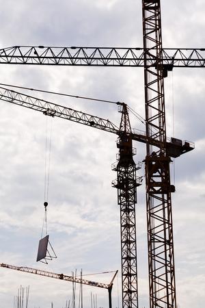 heavy industry: Crane Platform and cab Stock Photo