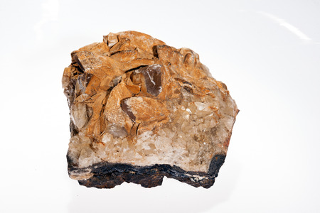 quarc mineral on the white background