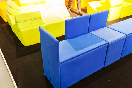 unusual furniture in color for the house, note shallow depth of field Stock Photo