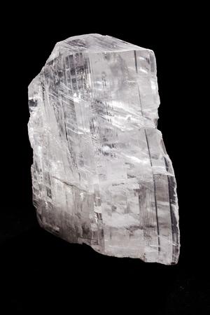 soft mineral gypsum on the black background