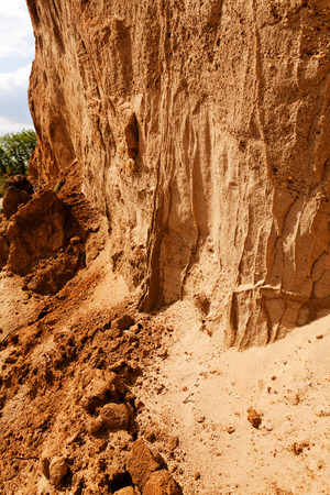 smaller sand and rocks  in construction Stock Photo