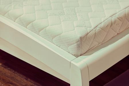 박람회에 더블 침대의 부분, 필드의 얕은 깊이 참고