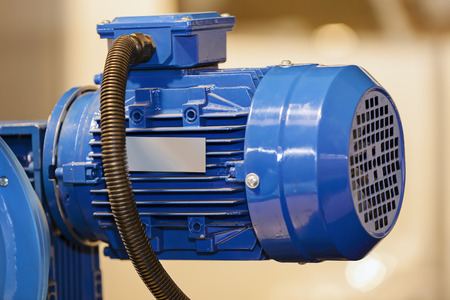 Focus on detail of engine for industry; note shallow depth of field