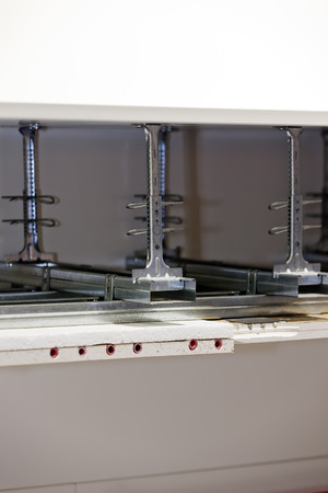 View on aluminum profiles for plywood shelf