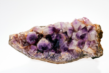 amethyst from the Mexico on the white background Stock Photo