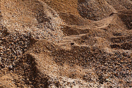sand and gravel piles in construction Stok Fotoğraf
