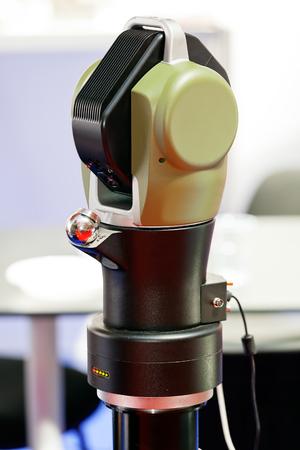 Close-up nieuw ontwerp van onderdelen voor motor op tentoonstellingsshow; noteer ondiepe scherptediepte