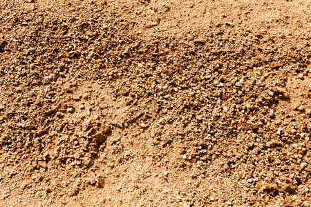 sand in construction with gravel