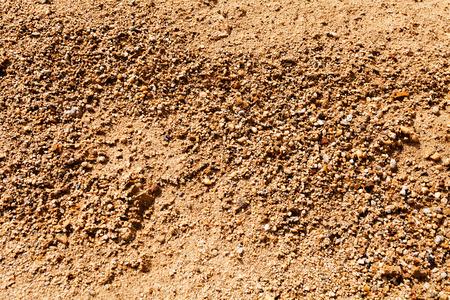 zand in aanbouw met grind Stockfoto