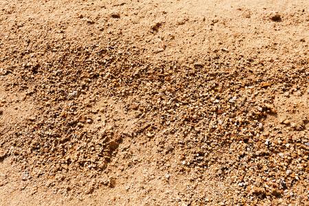 Zand in aanbouw met grind Stockfoto - 89248444
