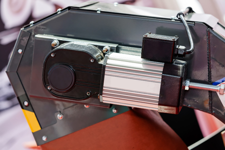 One detail and part of new industry machine; note shallow depth of field