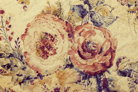 Example of carpet with floral details, note shallow depth of field Stok Fotoğraf - 89248499