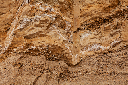smaller sand and rocks  in construction Imagens