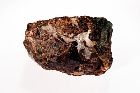 zeolite on the white background