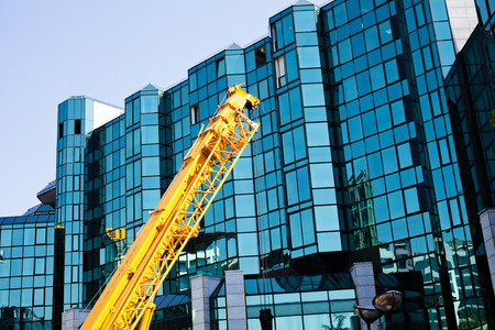 crane with building background