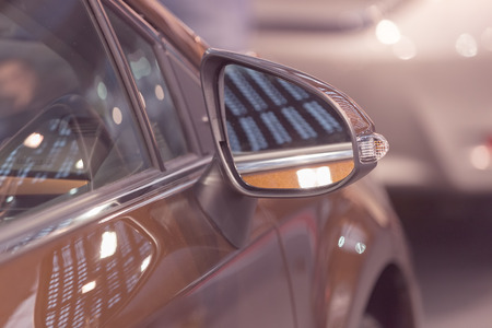 rearview mirror on the motor vehicle, note shallow depth of field Banco de Imagens - 86675034