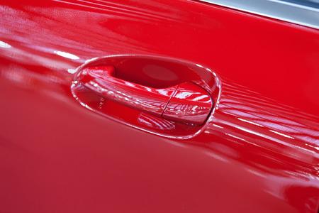 door handles of cars with door lock, note shallow depth of field Stok Fotoğraf