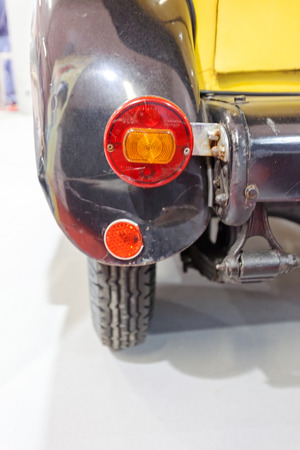 brake lights on the oldtimers, note shallow depth of field Stockfoto