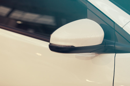 rearview mirror on the motor vehicle, note shallow depth of field Banco de Imagens - 86524737