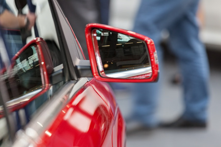rearview mirror on the motor vehicle, note shallow depth of field Banco de Imagens - 86759098