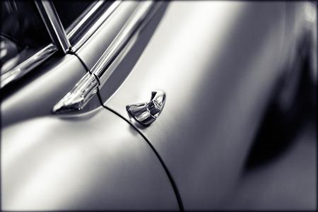 door handles of cars with door lock, note shallow depth of field Stock Photo