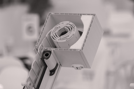 section of mechanism for Blinds in intersection, note shallow depth of field Stock Photo