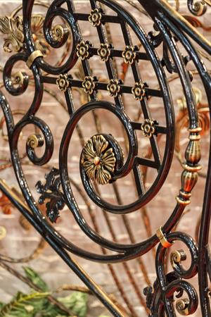錬鉄、メモ フィールドの浅い深さで作られた装飾