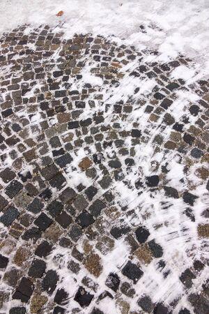 Cobble under the snow