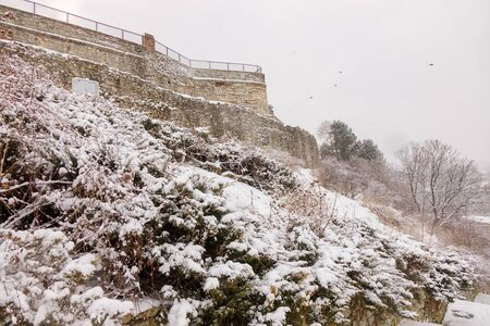 Belgrade old fortress under the snow