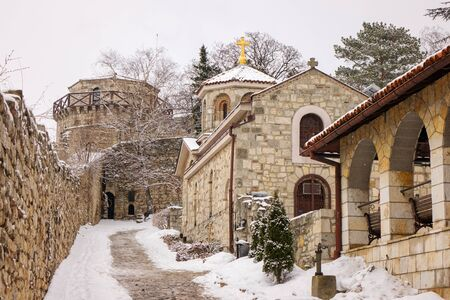 Orthodox Church in the city underthe snow Redakční