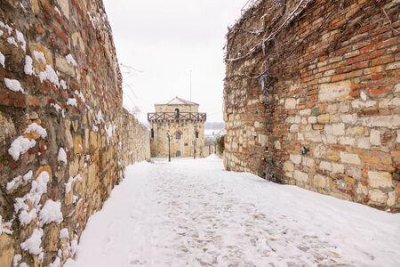 Belgrade fortress under the snow Redakční