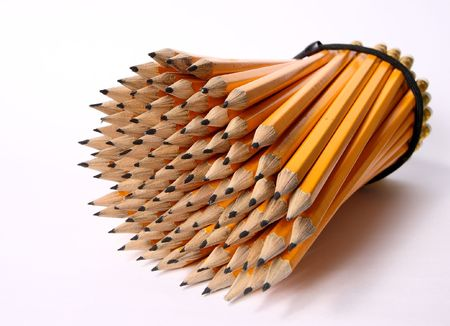 numerous: The big pack of pencils on a white background