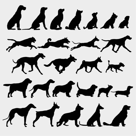 Vector image of silhouettes of the dog 向量圖像
