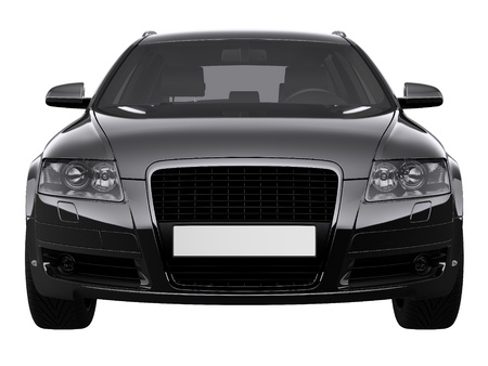 Luxury black car