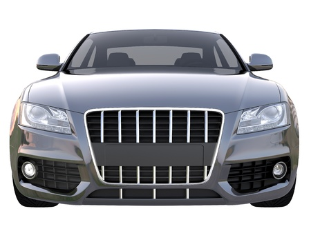 car grill: Black sport car front view