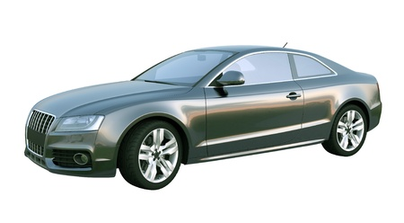 shiny car: Black Elegant Coupe Car Stock Photo