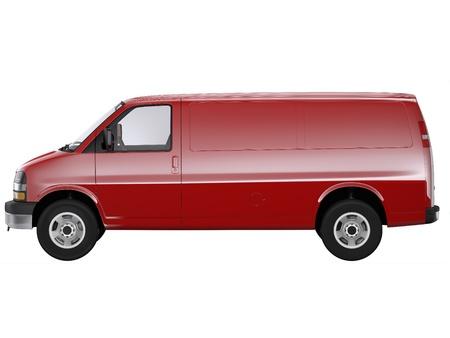 cargo van: Plain red van