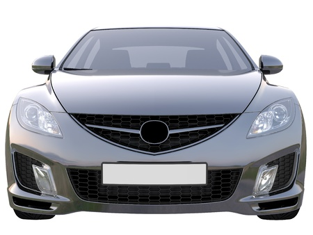 Black luxury Car front view Stock Photo