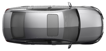 Top view a black sedan car photo
