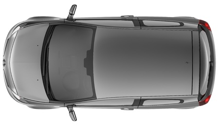 Compact black car top view Stock Photo - 14239750