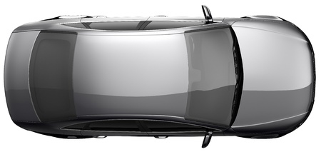 Black sedan car top view photo