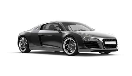 Black sport car on white background Stock Photo