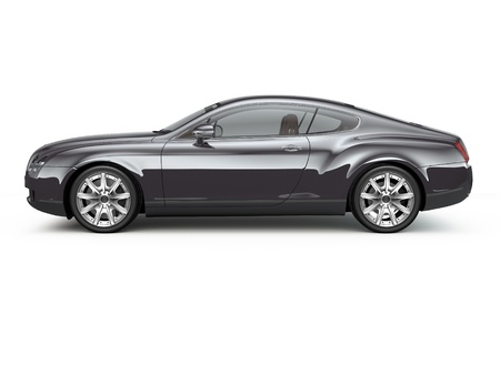 Black sport coupe car side view
