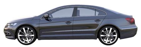 ruedas de coche: Coche de lujo alem�n negro Foto de archivo